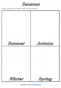 seasons worksheets pdf activities