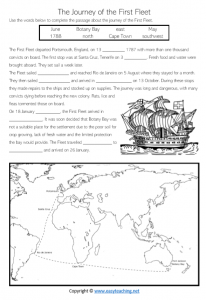 first fleet worksheets journey convicts activity sheet year 4 grade 5 find word word search pdf
