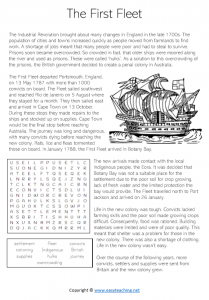 first fleet worksheets comprehension convicts activity sheet year 4 grade 5 pdf