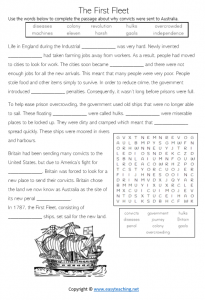 first fleet worksheets convicts activity sheet year 4 grade 5 pdf