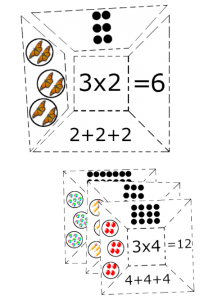 multiplication puzzles pdf cut paste