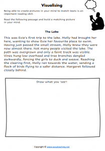visualising texts creating images worksheet