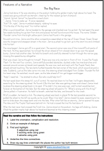 narrative writing worksheets structure elements find pdf