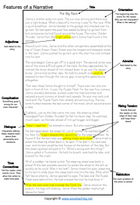 narrative writing worksheets structure elements poster pdf