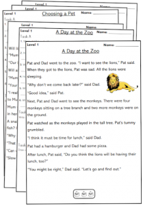 year 1 reading comprehension worksheets passages pdf