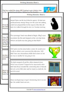 narrative writing worksheets prompt cards pdf