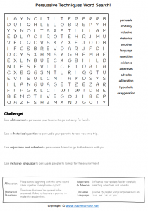 persuasive writing worksheets structure elements word search find a word wordsearch pdf