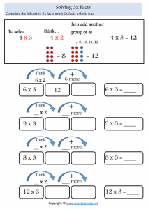 doubles 3x worksheets times tables strategy worksheets