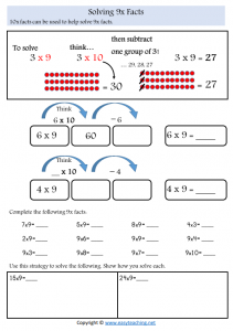 9x strategies worksheets times tables strategy worksheets