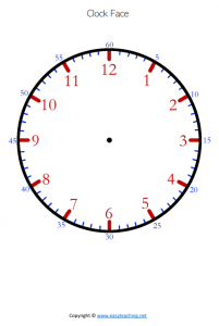 clock templates minutes pdf colour color time