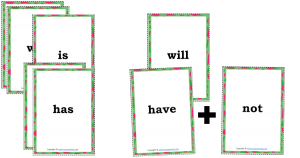 contractions card game match go fish snap pdf