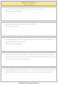 elapsed time word problems 5 minutes year 4 5 ks1 ks2