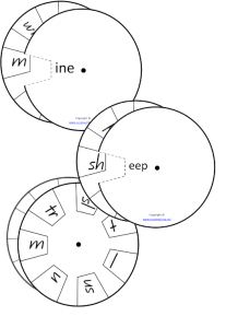 long vowel word wheels