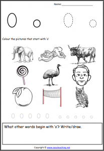 short o worksheets picture find initial pdf